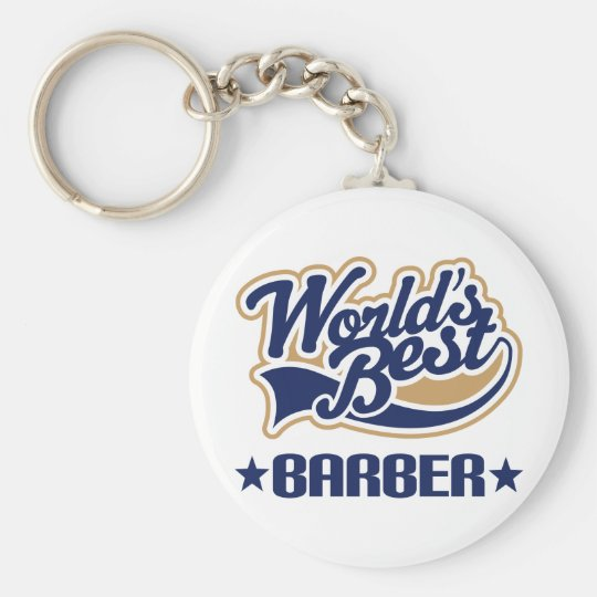 Worlds Best Barber Keychain
