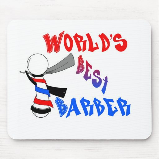 World's Best Barber Mouse Pad