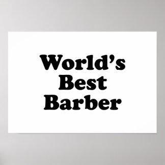 World's Best Barber Poster