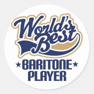 Worlds Best Baritone Player Gift Classic Round Sticker