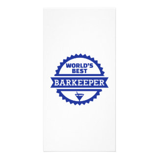 World's best barkeeper bartender personalized photo card