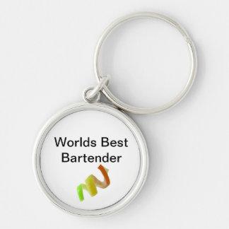 Worlds Best Bartender Keychain