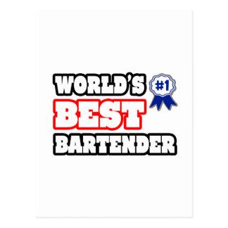 World's Best Bartender Postcard