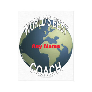 World's Best Baseball Coach Canvas Print