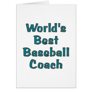 world's best baseball coach card