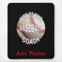 World's Best Baseball Coach Mouse Pad
