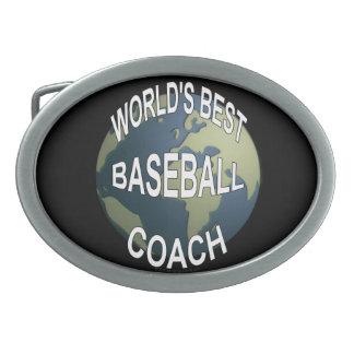 World's Best Baseball Coach Oval Belt Buckle