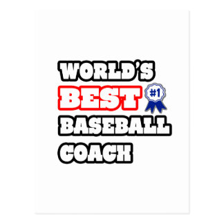 World's Best Baseball Coach Postcard