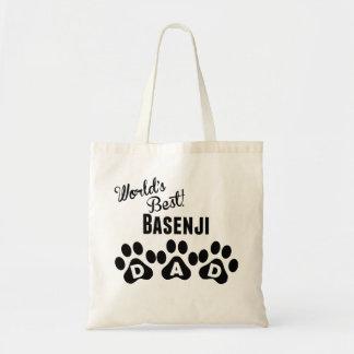 World's Best Basenji Dad Budget Tote Bag