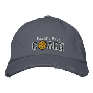 World's Best Basketball Coach Embroidered Baseball Hat