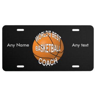 World's Best Basketball Coach License Plate