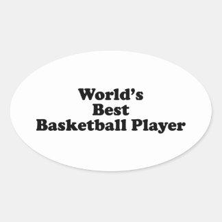 World's Best Basketball Player Oval Sticker