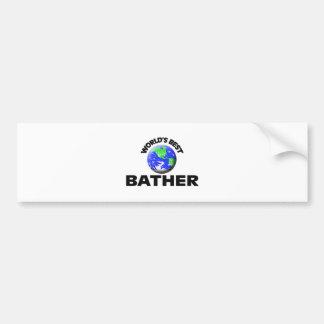 World's Best Bather Car Bumper Sticker