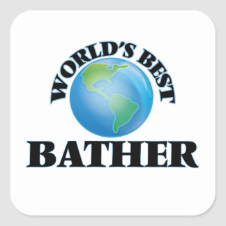World's Best Bather Square Sticker
