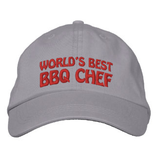 Worlds Best BBQ Chef Embroidered Baseball Hat