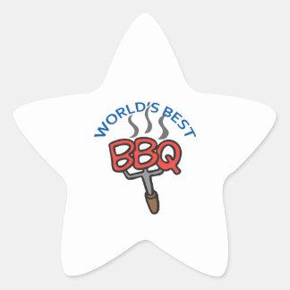 WORLDS BEST BBQ STAR STICKER