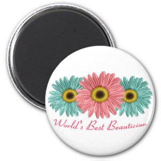 World's Best Beautician 2 Inch Round Magnet
