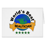 World's Best Beautician Greeting Card