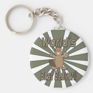 Worlds Best Beaver Key Chains