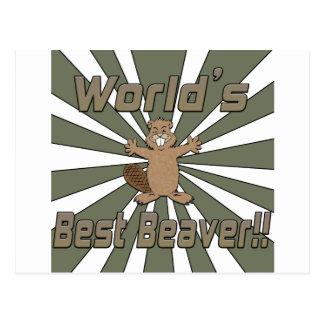 Worlds Best Beaver Post Cards