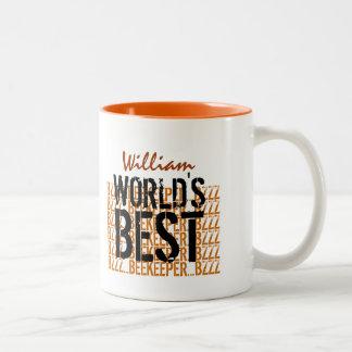 World's Best Beekeeper Gold Black W1962 Coffee Mug