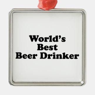 World's Best Beer Drinker Metal Ornament