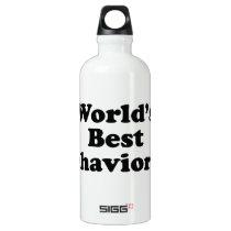 World's Best Behaviorist Aluminum Water Bottle