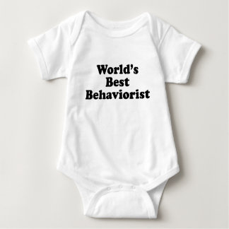 World's Best Behaviorist Baby Bodysuit