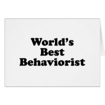 World's Best Behaviorist Card