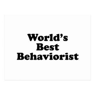 World's Best Behaviorist Postcard