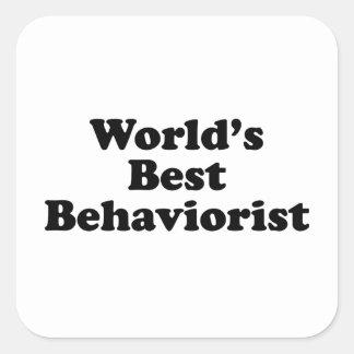 World's Best Behaviorist Square Sticker