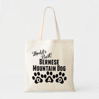 World's Best Bernese Mountain Dog Dad Budget Tote Bag