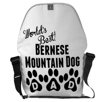 World's Best Bernese Mountain Dog Dad Courier Bag