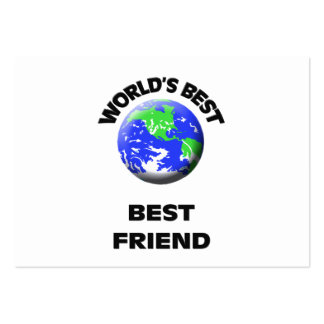 World's Best Best Friend Large Business Cards (Pack Of 100)