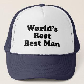 World's Best Best Man Trucker Hat