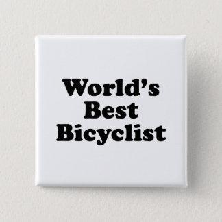 World's Best Bicyclist Button