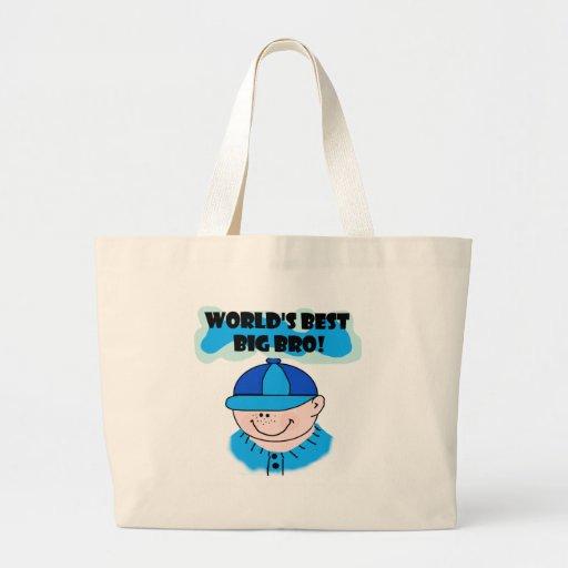 World's Best Big Bro Tshirts and Gifts Jumbo Tote Bag