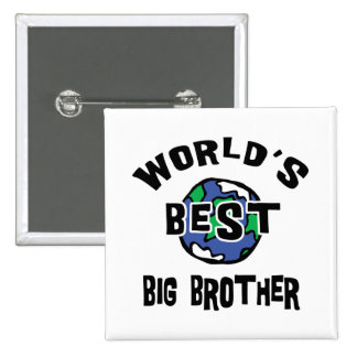 World's Best Big Brother 2 Inch Square Button