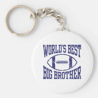 World's Best Big Brother Basic Round Button Keychain