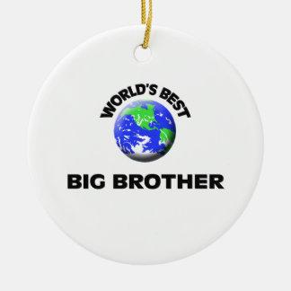 World's Best Big Brother Ceramic Ornament