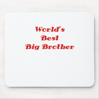 Worlds Best Big Brother Mouse Pad