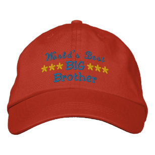 b5c65bccbdb World s Best Big Brother or Sister or Dad etc Embroidered Baseball Cap