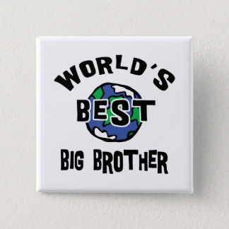 World's Best Big Brother Pinback Button