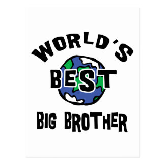 World's Best Big Brother Postcard