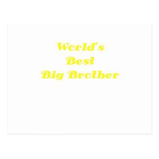 Worlds Best Big Brother Postcard