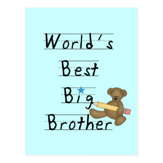 World's Best Big Brother Tshirts and Gifts Postcard