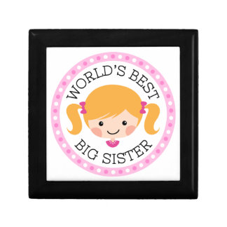 Worlds best big sister cartoon girl blond hair jewelry boxes