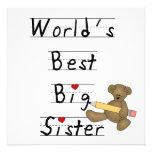 World's Best Big Sister Gifts Custom Invitations