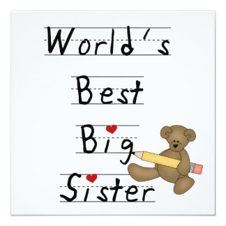 World's Best Big Sister Gifts Invitation
