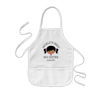 Worlds best big sister personalized kids' apron